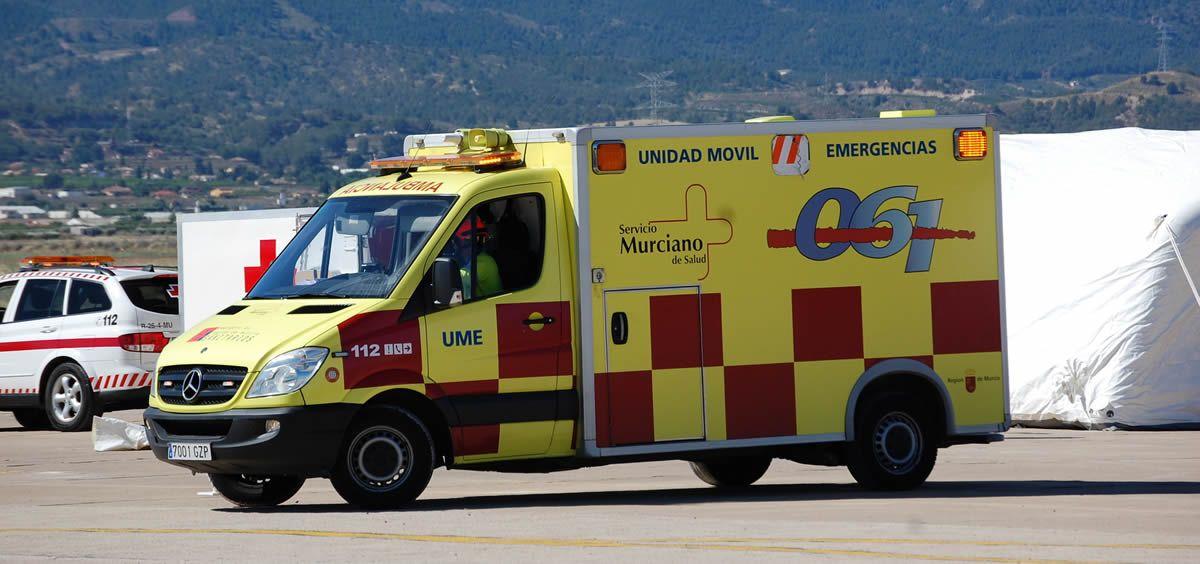Vehículo UME del Servicio Murciano de Salud