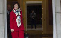 La vicepresidenta del Gobierno de España, Carmen Calvo