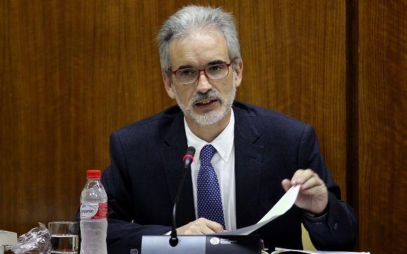 Aquilino Alonso en una de sus intervenciones