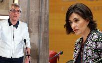 Ana Barceló y Carmen Montón, consejera de Sanidad de la Comunidad Valenciana y ministra de Sanidad del Gobierno de España