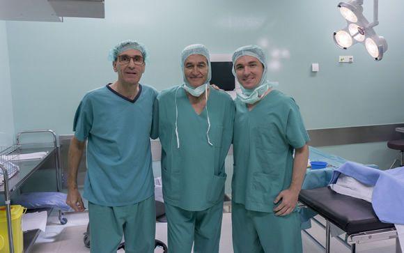 De izq. a dcha: los doctores Jordi Coromina, Robert Soler y Jonas Nunes