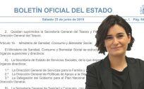El BOE ha publicado la nueva estructura del Ministerio de Sanidad, liderado por Carmen Montón, a través de un Real Decreto.