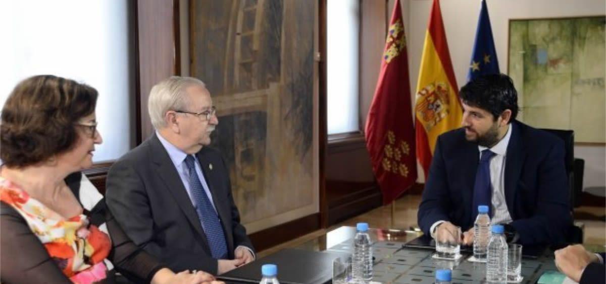 Serafín Romero se reúne con Fernando López Miras, presidente de la Región de Murcia