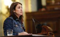 La portavoz del PSOE en el Congreso, Adriana Lastra, defendiendo la proposición de ley del PSOE para regular la eutanasia.