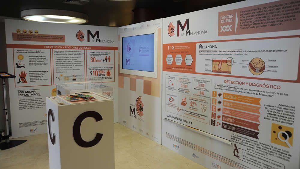Un espacio de la exposición 'M de Melanoma'