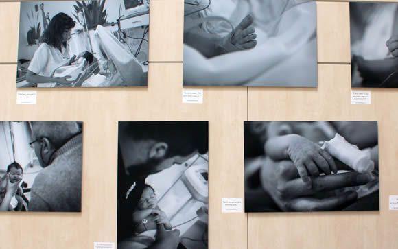 Los neonatos protagonizan una exposición fotográfica en el Hospital Infanta Elena