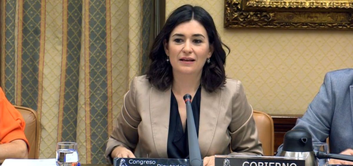 """Carmen Montón ha anunciado que el Gobierno quiere eliminar el copago farmacéutico al completo """"en esta legislatura""""."""