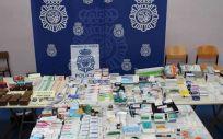 Medicamentos decomisados por el Cuerpo Nacional de Policía (CNP)