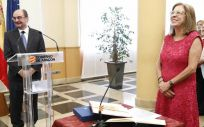 Pilar Ventura en la toma de posesión de su nuevo cargo como consejera de Sanidad de Aragón