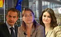 José Luis Rodríguez Zapatero, Belén Crespo y Carmen Montón
