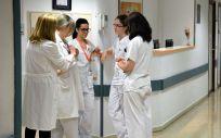 Un grupo de enfermeras en un hospital
