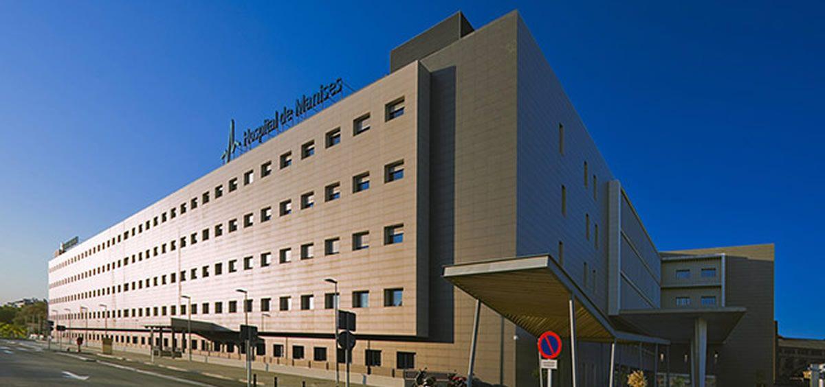 Hospital de Manises, donde ha estado ingresado el joven de 350 kilos