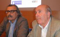 Miguel Lázaro e Isidro Torres, presidente y ex presidente de Simebal, respectivamente