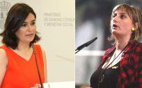 Carmen Montón, ministra de Sanidad, y Alba Vergés, consejera catalana de Salud.