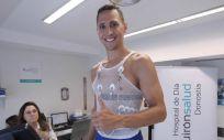 Fede Van Lacke, jugador del GBC, a punto de realizar su prueba de esfuerzo