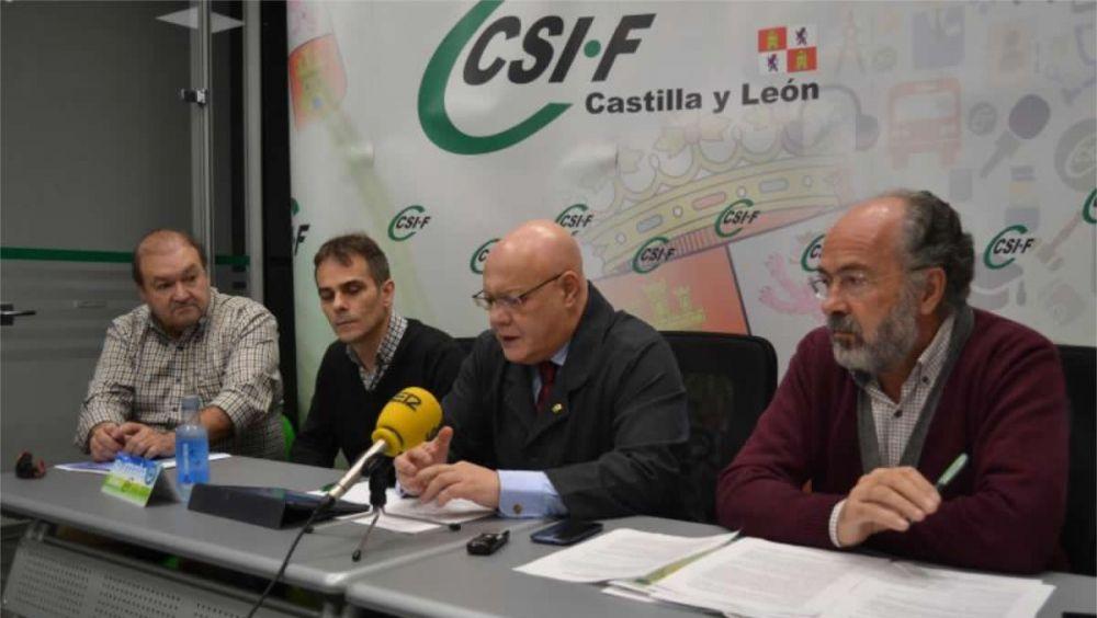 Representantes del sector de Sanidad de CSIF de Castilla y León