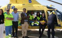 José María Vergeles ha presentado dos nuevos helicópteros asignados al Centro de Urgencias y Emergencias 112 Extremadura,