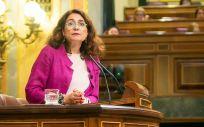 María Jesús Montero, ministra de Hacienda, interviniendo en el Congreso de los Diputados