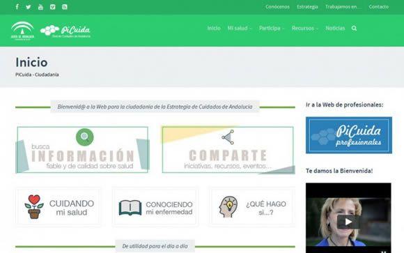 Imagen de la página web puesta en marcha por la Junta de Andalucía.