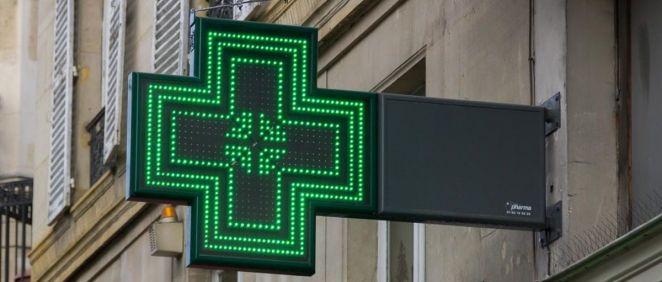 Distintivo luminoso de las farmacias