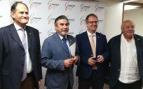 Los doctores José Polo, José Luis Llisterri, Rafael Micó e Isidoro Rivera, miembros de la Junta Directiva Nacional de SEMERGEN