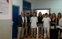En imagen, la consejera de Salud, Patricia Gómez, el personal sanitario y otras autoridades, durante la inauguración de la nueva UBS Centre