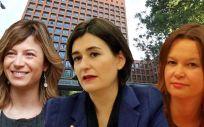 De izquierda a derecha: Bibiana Aído, Carmen Montón y Leije Pajín