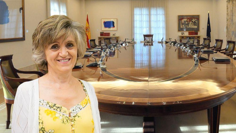 María Luisa Carcedo, ministra de Sanidad, acude este viernes a su primer Consejo de Ministros en el Palacio de la Moncloa.