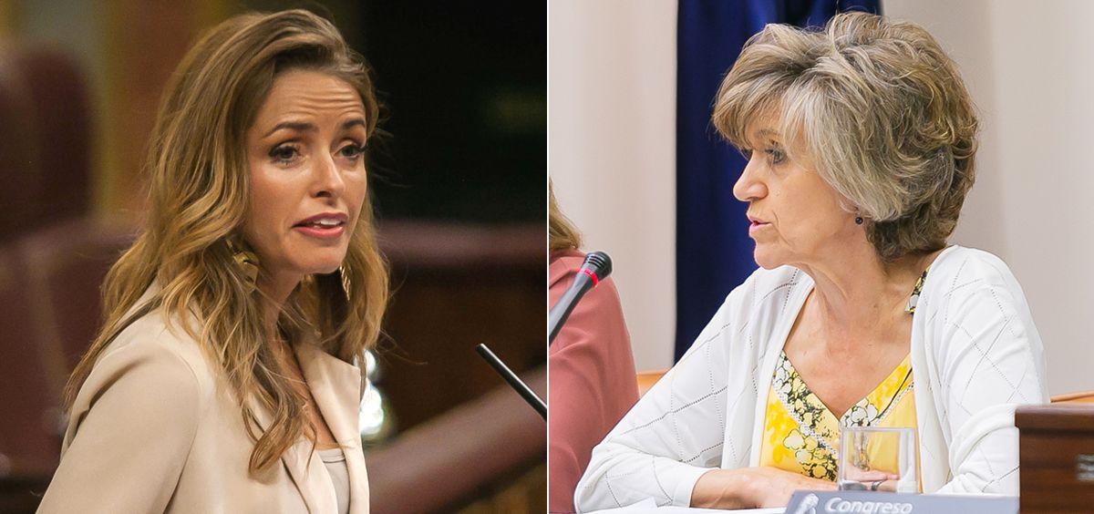 Patricia Reyes, diputada de Ciudadanos, y María Luisa Carcedo, ministra de Sanidad.