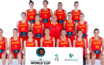 Jugadoras de la Selección Española de Baloncesto femenina.