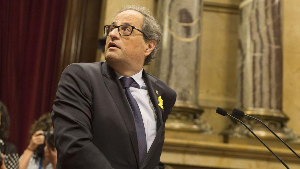 Quim Torra, presidente de la Generalitat de Cataluña.