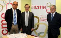Antonio Zapatero, vicepresidente de Facme junto a Carlos Macaya y Fernando Carballo, ex presidente y presidente de Facme