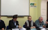 El secretario general del Sindicato Médico (CESMCV-SAE), Andrés Cánovas, durante una asamblea de la organización sindical.
