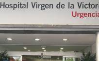 Entrada al servicio de Urgencias del Hospital Virgen de la Victoria de Málaga (Hospital Clínico).