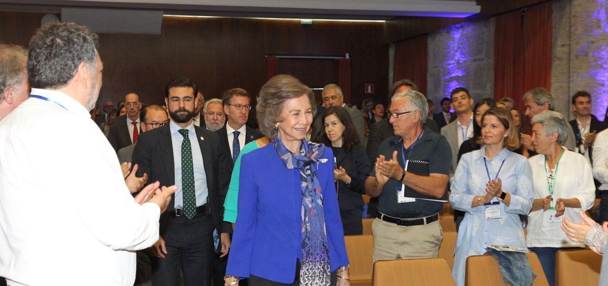 La Reina Emérita, Doña Sofía, en un momento de la inauguración.