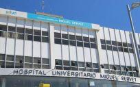 Hospital Miguel Servet de Zaragoza, donde fue atendido el paciente