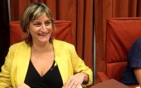 Alba Vergés, consejera de Salud de Cataluña, antes de intervenir en la Comisión de Salud del Parlamento de Cataluña.