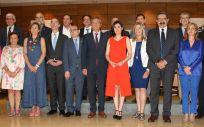 Asistentes al último pleno del Consejo Interterritorial, presidido por la exministra de Sanidad, Carmen Montón.