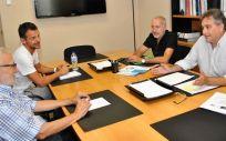 Miembros de las directivas de Satse y Fadsp durante su reunión.
