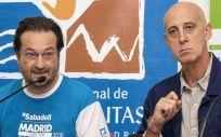 Fernando Prados y José Antonio Martín Urrialde, durante la jornada en la que se ha abordado la importancia del ejercicio físico para reducir los efectos secundarios producidos por el cáncer