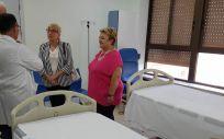 La consejera de Sanidad, Ana Barceló, ha visitado la cuarta fase de las obras del plan de modernización del Hospital General de Valencia.