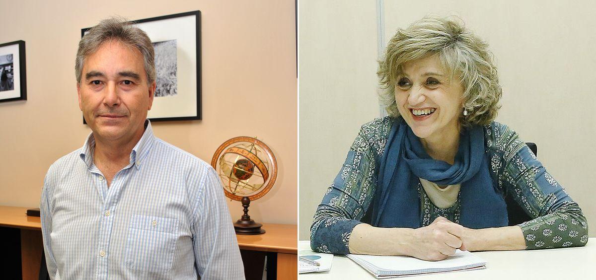 Manuel Cascos, presidente de Satse, y María Luisa Carcedo, ministra de Sanidad, Consumo y Bienestar Social