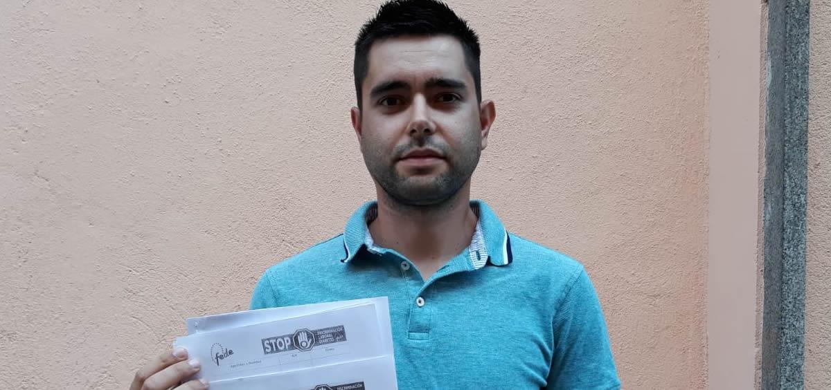 Alberto Sánchez Martín, enfermo de diabetes y afectado por los cuadros de exclusión de las oposiciones a funcionario público de prisiones.