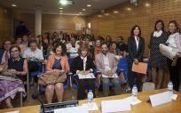 Asistentes la I Jornada de Debate 'Trayectoria de la profesión de Enfermería: Pasado, Presente y Futuro'
