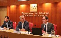 El consejero de Sanidad de Madrid, Enrique Ruiz Escudero durante la presentación del estudio.