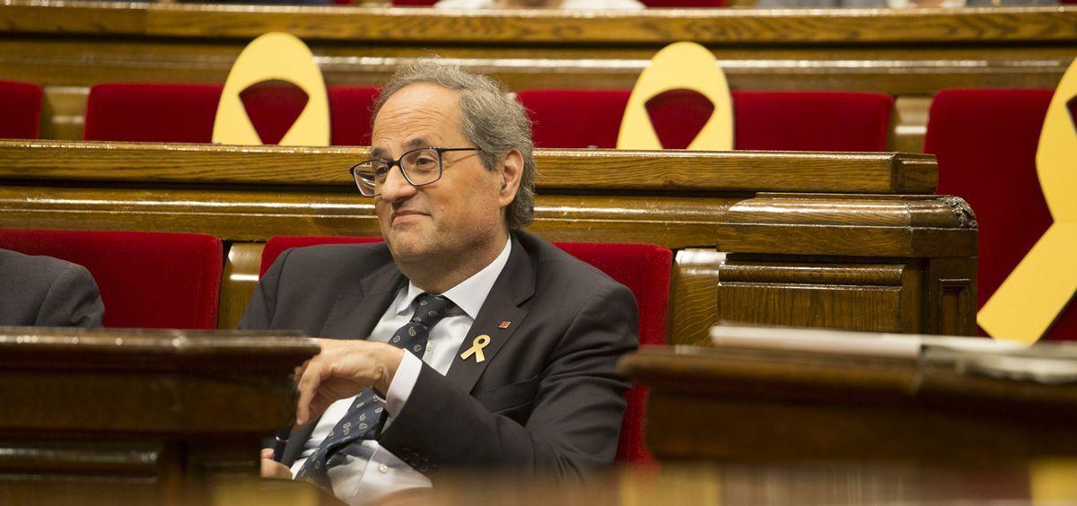 Quim Torra, presidente de la Generalitat de Cataluña (Foto. Parlament)