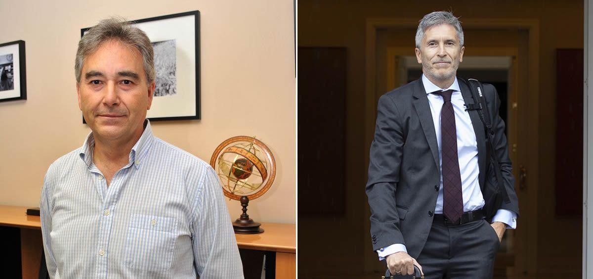 Manuel Cascos, presidente de Satse, y Fernando Grande Marlaska, ministro de Interior