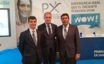 De izquierda a derecha: Adolfo Fernández Valmayor, Luis Mayero y Manuel Vilches, representantes de la Fundación IDIS