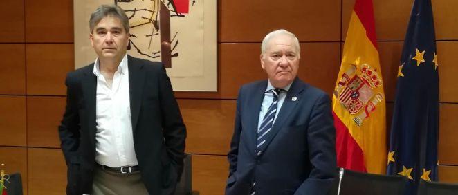 Manuel Cascos y Florentino Pérez Raya, máximos representantes de la Mesa de la Profesión Enfermera (Foto: Juanjo Carrillo - ConSalud.es)