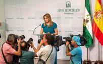 La presidenta de la Junta de Andalucía, Susana Díaz, anunció ayer en rueda de prensa la convocatoria electoral anticipada de elecciones.